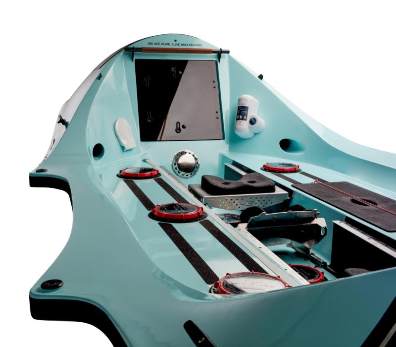 Whaleboat O28 ocean rowboat deck