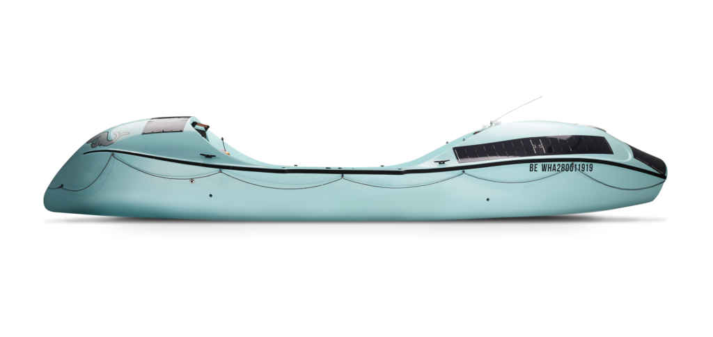 Whaleboat O28 ocean rowboat side view