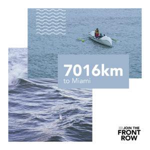 The Front Row ocean row in numbers: 7016 km from Portugal to Miami